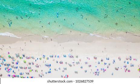 Aerial shooting of phuket beach, Phuket, Thailand.