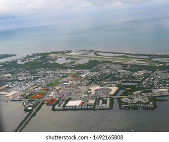 Aerial shot of Key West, the southernmost point of Florida