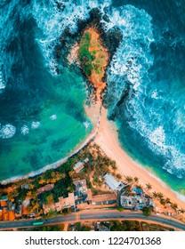 Aerial Shot of Mirissa Beach
