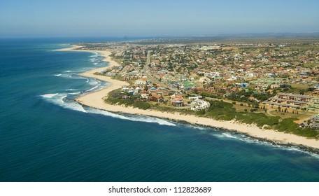 Aerial shot of Mossel Bay