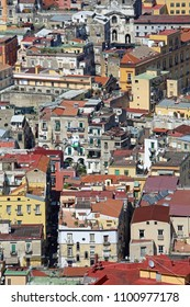 Aerial Shot of Naples City Center in Campania Italy