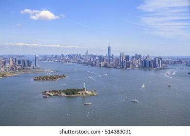 Aerial shot of New York City