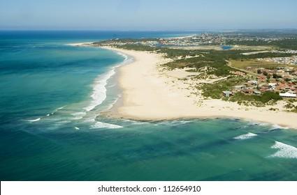 Aerial shot of Port Elizabeth - South Africa