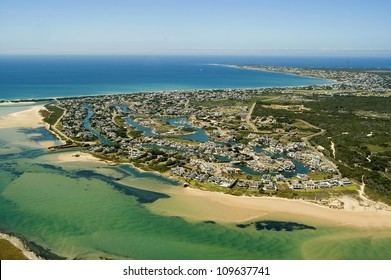 Aerial shot of St Francis Bay, South Africa