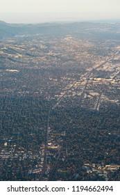 Aerial shot of suburbia