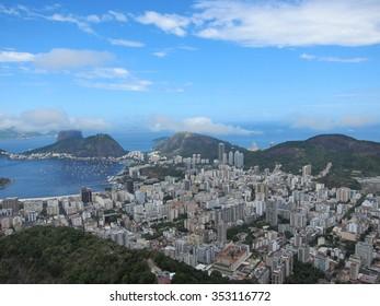 Aerial shot of sunny Rio