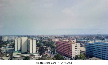 Aerial Shot of the tallest building in port Harcourt