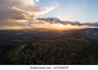 Aerial Shot of the Teutoburger Wald, Germany