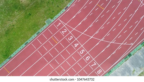aerial shot track scene in the school