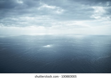 aerial shot of a tranquil ocean seascape