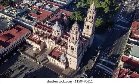 Aerial Shots of Michoacan Morelia Historic District