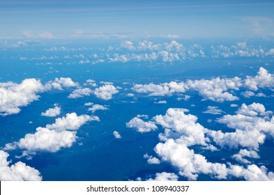 Aerial sky and clouds background