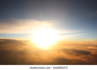 Aerial Sky View from Airplane