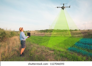 aerial soil scanning with drone