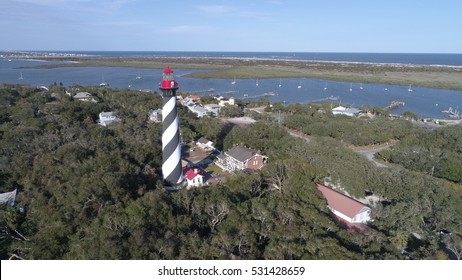 Aerial St Augustine lighthouse