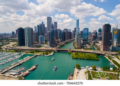 Aerial stock image of Chicago