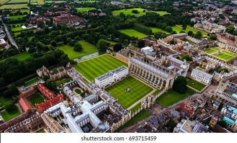 Aerial Stock Photo Of Cambridge University UK
