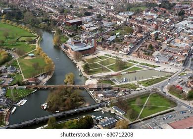 Aerial of Stratford upon Avon