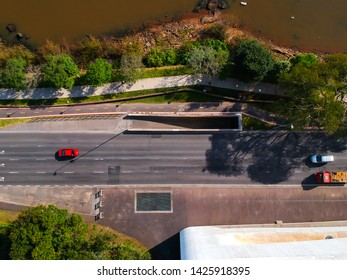Aerial street view and Iberê Camargo Foundation