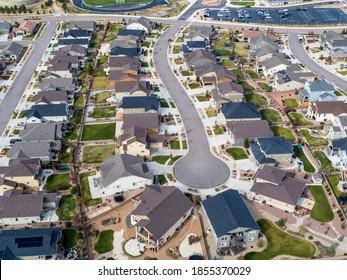 Aerial of Suburban Sprawl of Colorado