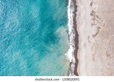 Aerial summer photo of beach and ocean. Gran Canaria landscape and free space for your decoration.