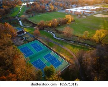 Aerial Sunset of Spring Lake Park South Plainfield NJ