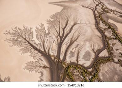 aerial tidal creek patterns