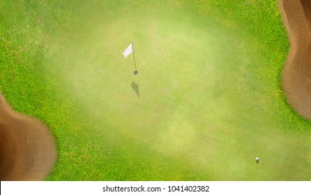 Aerial top view of Golf course