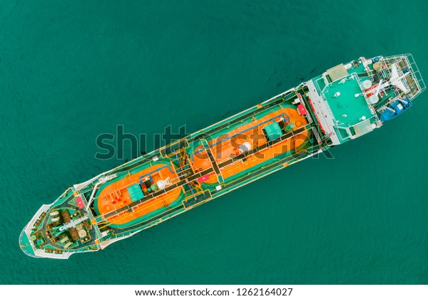Aerial Top View Sea Freight Crude Stock Photo (Edit Now