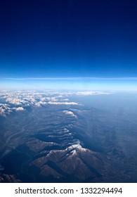 Aerial viene of the Italian Alps