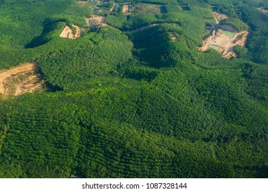 Aerial view of  Agriculture and the mountain, Thailand