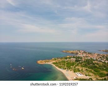 Aerial view of Ahtopol resort, Bulgaria.
