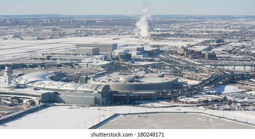 Aerial view of airport in Toronto Metro Area