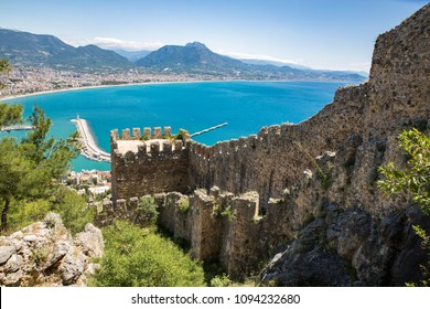 Aerial view of Alanya Cost from Alanya Castle