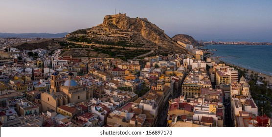 Aerial view of Alicante