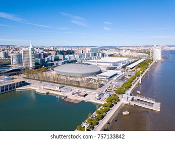 Aerial View Of The Altice Arena In Lisbon Portugal Amazing Meo Arena In Lisboa