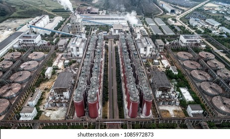 aerial view of alumina factory
