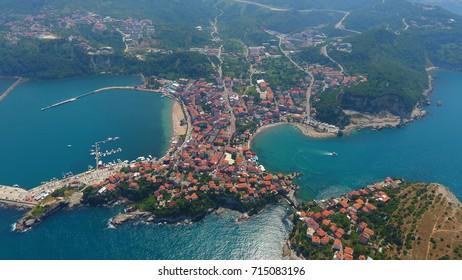 Aerial view of Amasra Turkey