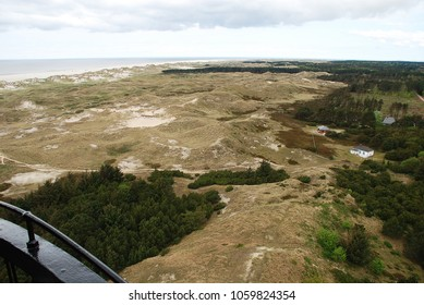 Aerial view of Amrum's west coast. Amrum is one of the North Frisian Islands on the German North Sea coast, south of Sylt and west of Foehr