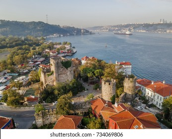 Aerial View of Anatolian Castle in Istanbul