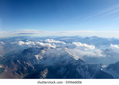 Aerial view of the Andes mountain range