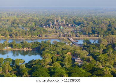 Aerial view of Angkor Wat