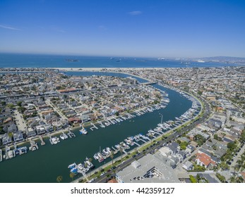 Aerial view around mothers beach at Long Beach