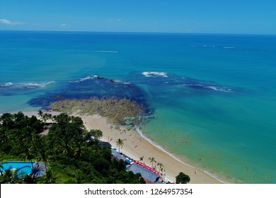 Aerial view of Arraial D'Ajuda beach, Bahia, Brazil