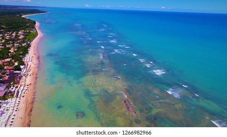 Aerial view of Arraial d'Ajuda beach, Brazil