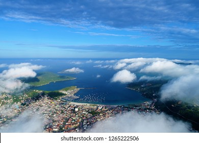 Aerial view of Arraial do Cabo beach, Brazil