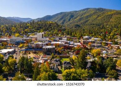 Aerial view of Ashland, Oregon