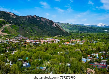 Aerial view of Aspen Colorado, USA