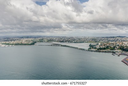 Aerial view of the Auckland city, New Zealand