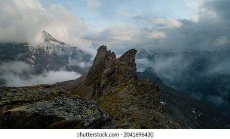 Aerial View of Austrian Alps in Summer from Defregger Haus near the Summit of Grossvenediger - Shutterstock ID 2041696430